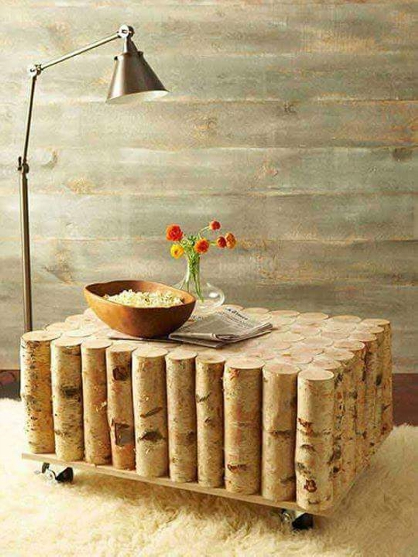 cordwood table