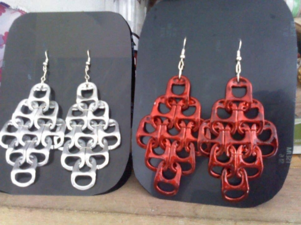 earings with tin can openters
