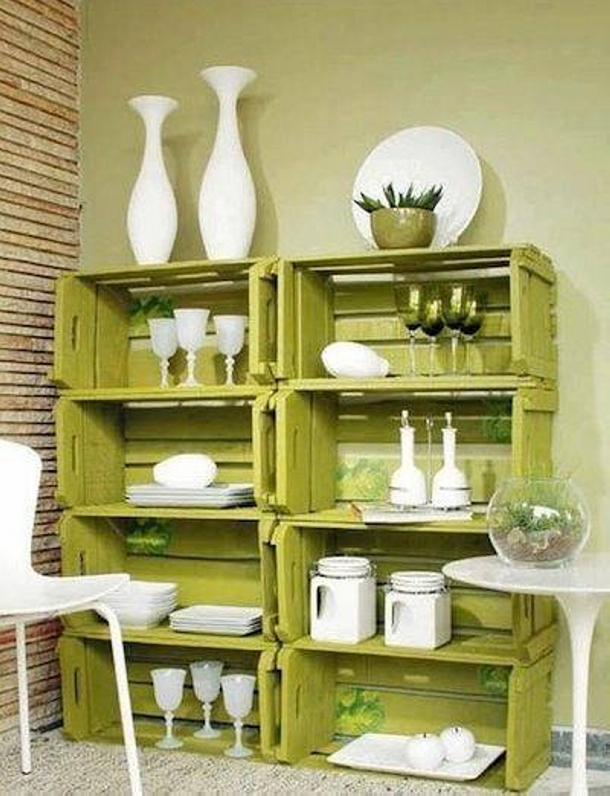 fruit crates recycling ideas