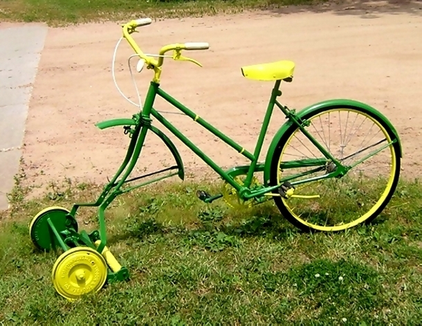 lawn mower bike ideas