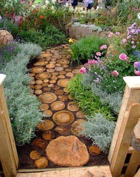 log garden pathway