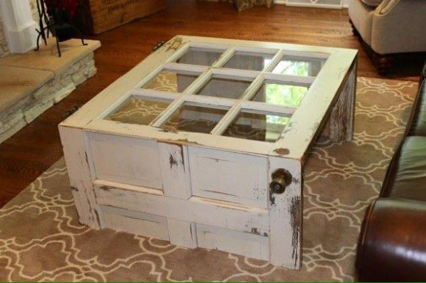 old door recycled table