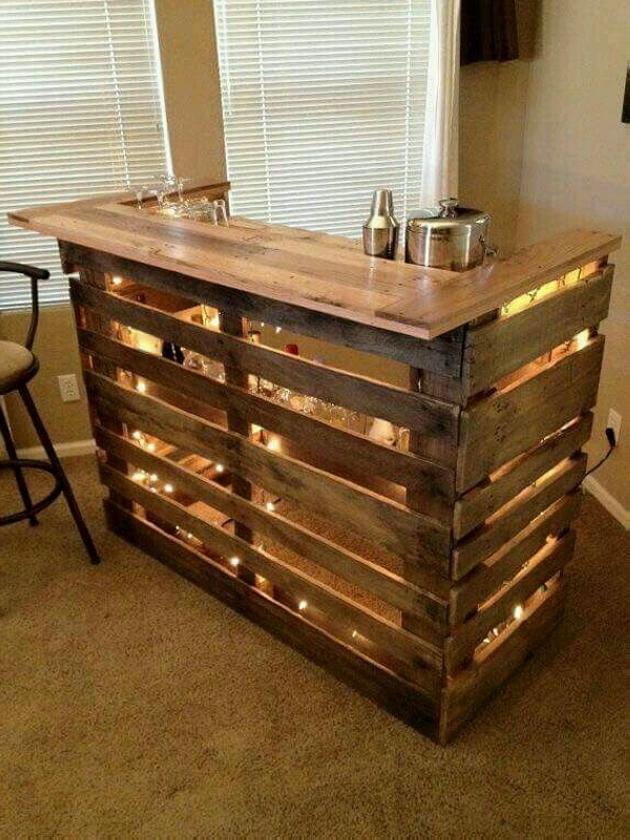 pallet bar desk