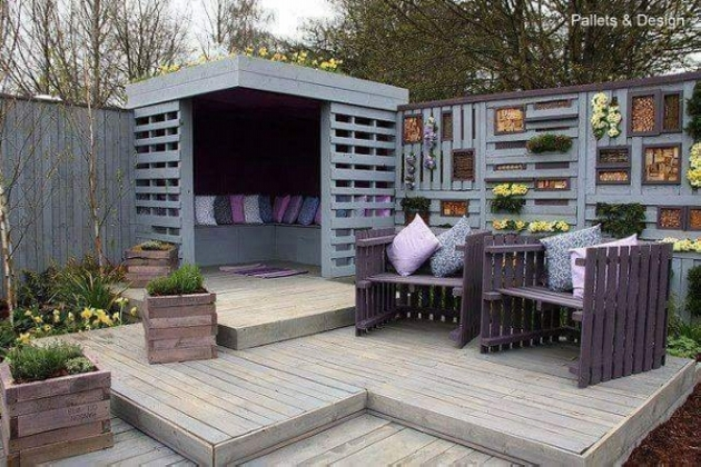 pallet wood patio deck
