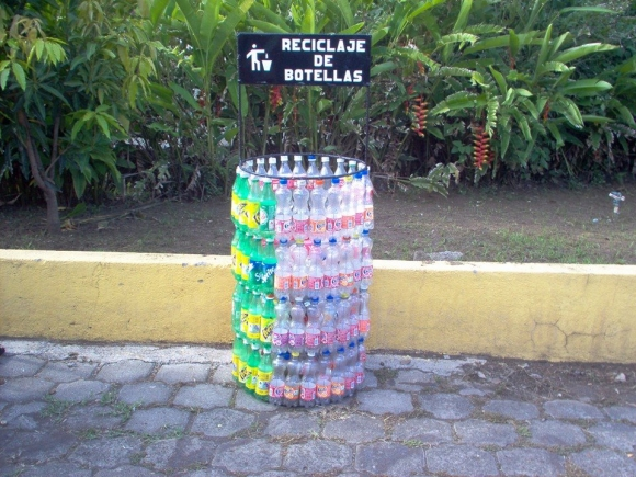 plastic bottles recycling art