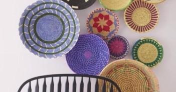 reused baskets for decoration