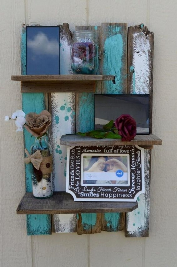 simply amazing cute pallet shelf