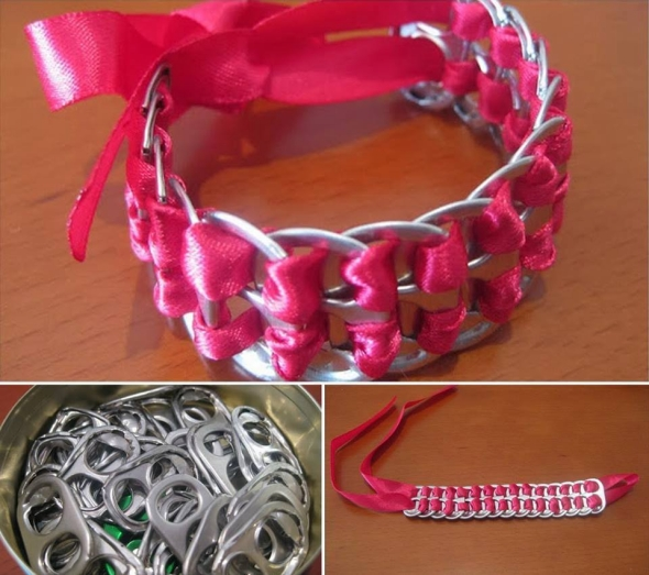 tin can tops bracelet