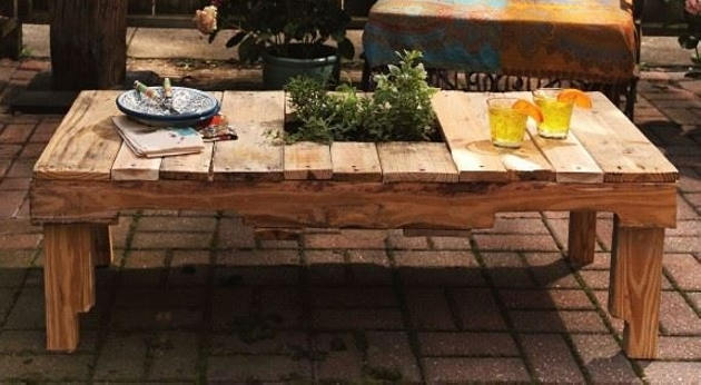 vintage style pallet table
