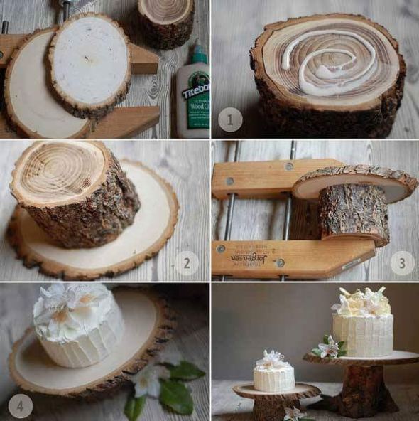 wood log decor plan