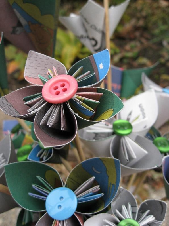 Book Paper Flower Bouquet