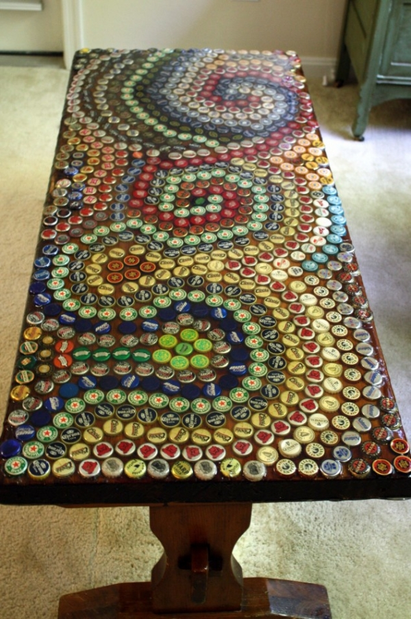 crafts made with recycled bottle caps upcycle art