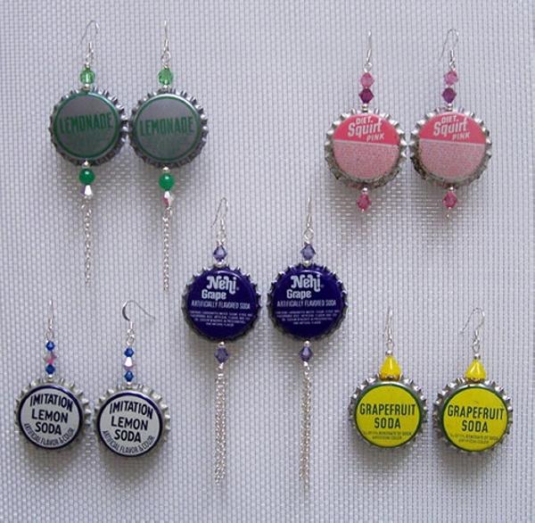 Bottle Caps Earings