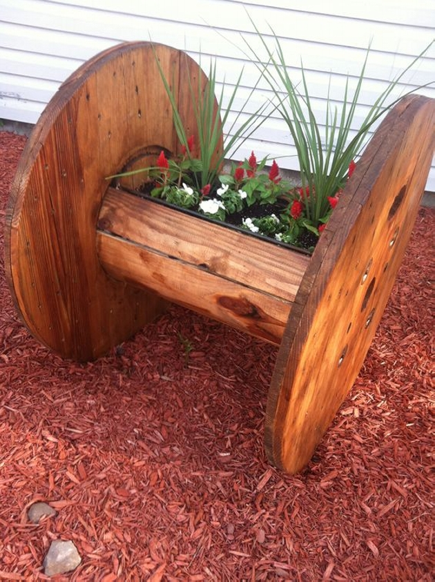 Cable Reel Pallet Planter