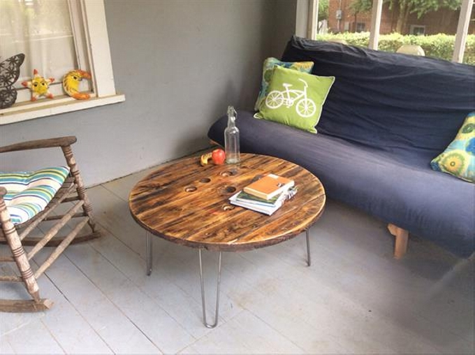 Cable Spool Coffee Tables