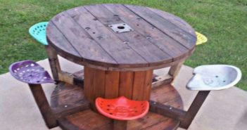 Cable Spool Kids Furniture