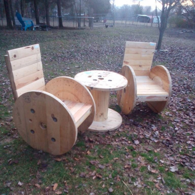 Cable Spool Patio Furniture