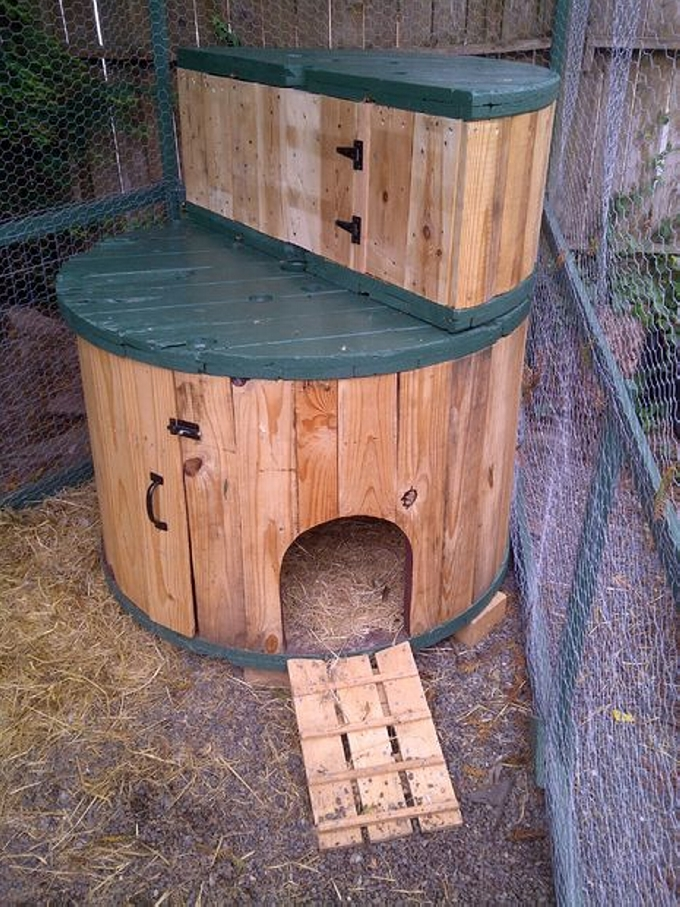 Cable Spool Recycled Dog House