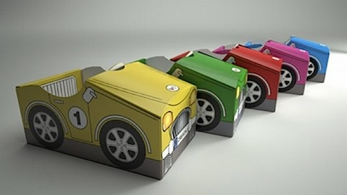 Cardboard Recycled Cars