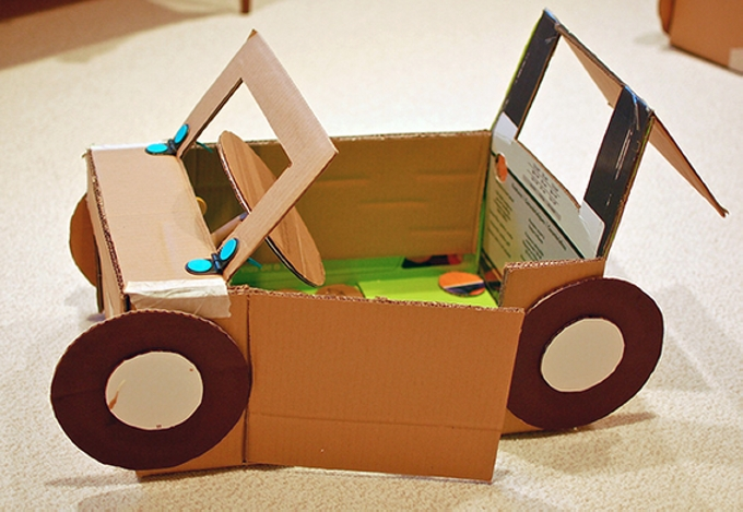 Cardboard Recycled Toys