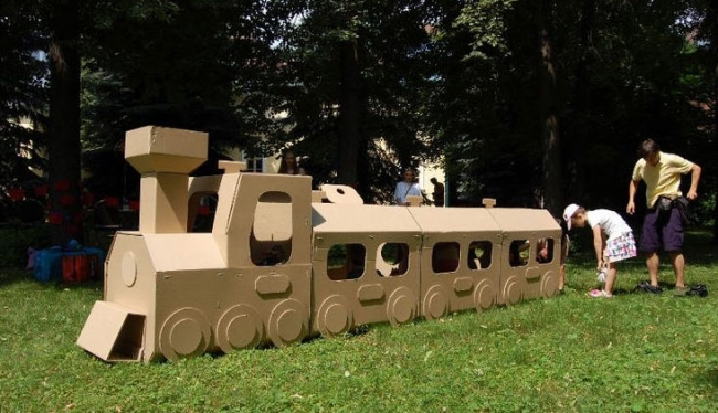 Upcycled Cardboard Train Ideas Upcycle Art