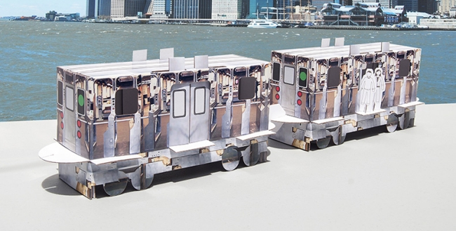 Cardboard Train Set