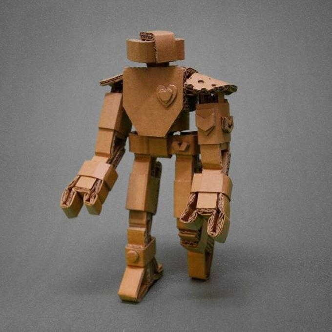 Cardboard Upcycled Robot