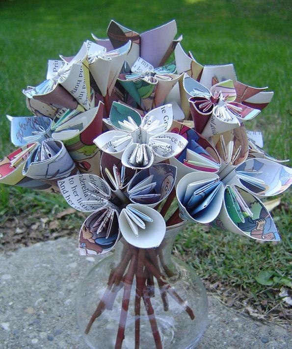 Cinderella Paper Flowers