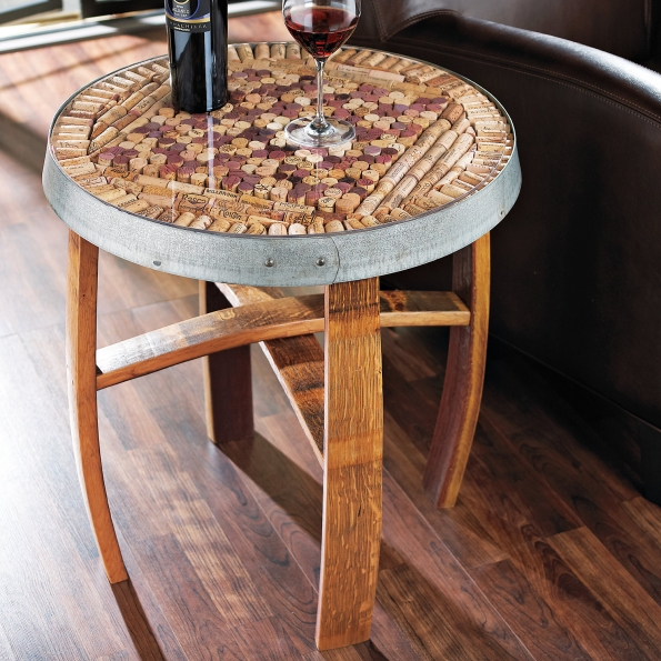 Wine Cork Table Design: Upcycled Cork Furniture Ideas