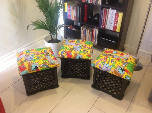 DIY Milk Crate Seats