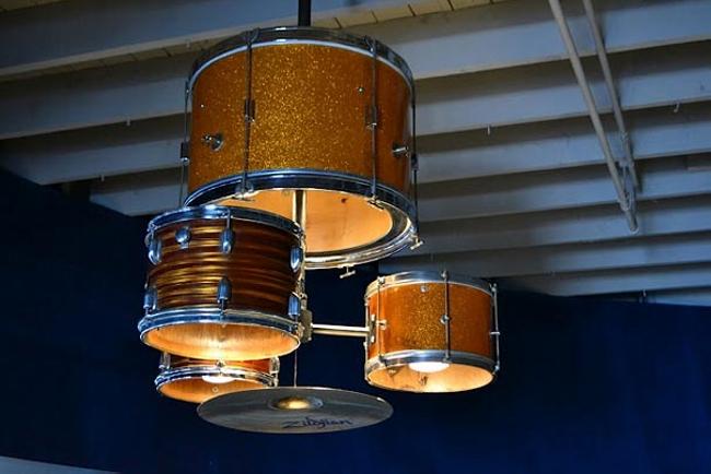 Drum Kit Into Chandelier