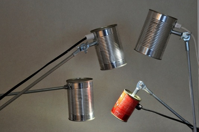 Garbage Lamp Ideas