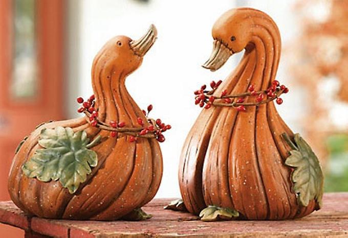 Geese Gourd Art