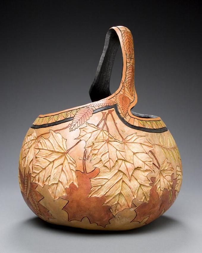 Gourd art featuring
