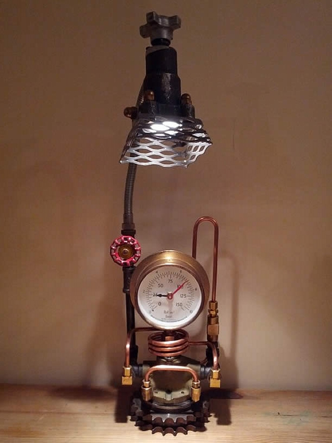 Industrial Clocks and Lamps Art