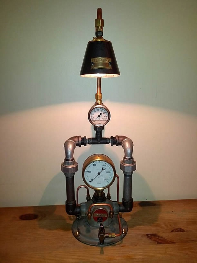 Upcycled Recycled Lamp Art Upcycle Art