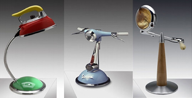 Lamps From Recycled Motorcycle Parts