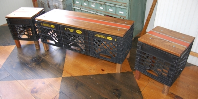 Upcycled Crate Stools Upcycle Art