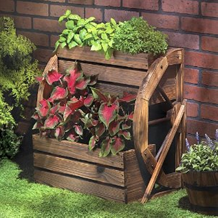 Pallet Outdoor Flower Planter Box