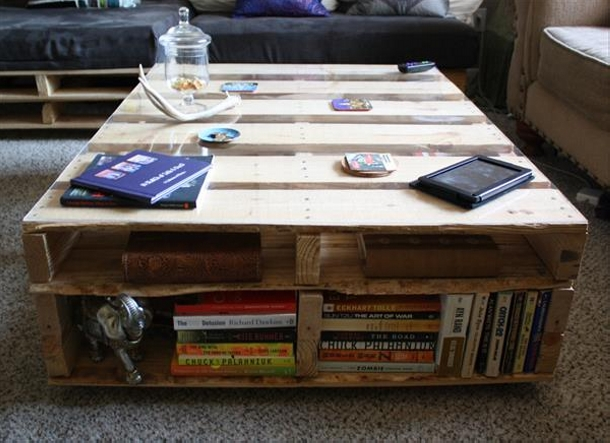 Pallet Upcycled Book Table