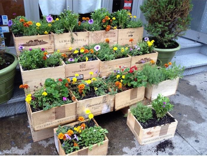 Palllet Wood Boxes Planters