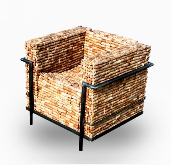 Reclaimed Cork Chair