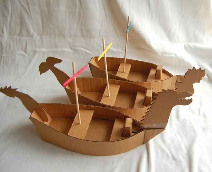 Recycled Cardboard Boat