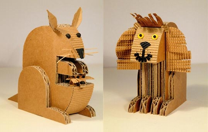 Recycled Cardboard Toys