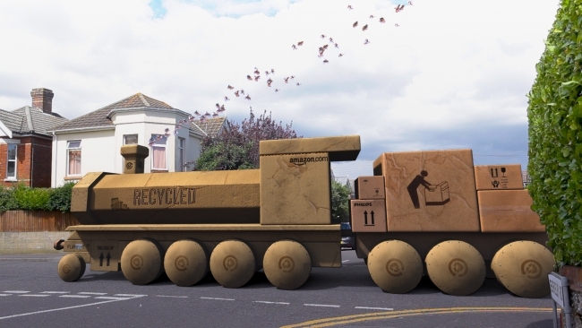 Upcycled Cardboard Train Ideas | Upcycle Art