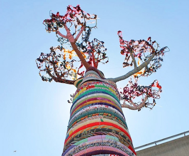 Recycled Fabric Baobab Tree
