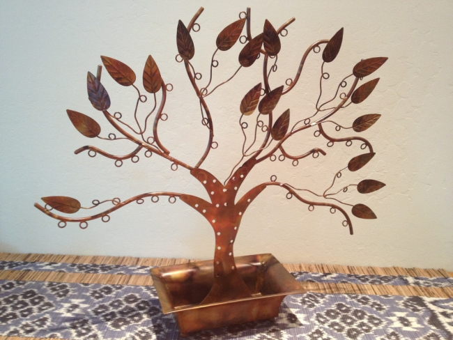 Recycled Iron Jewelry Tree