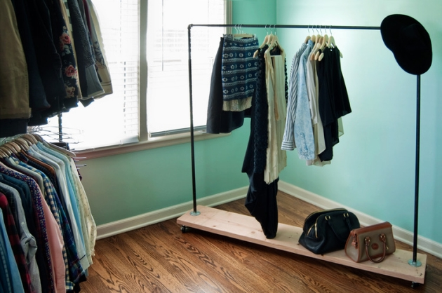 Recycled Pipe Wardrobe Rack