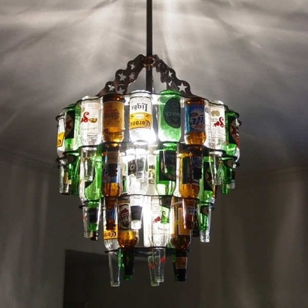 Recycled Wine Glass Chandelier