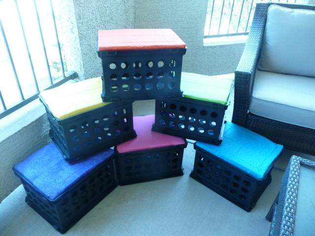 Repurposed Crate Stools
